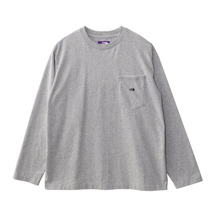THE NORTH FACE Tシャツ・カットソー 国内発◆THE NORTH FACE PURPLE LABEL 7OZ L/S POCKET 定番T(3)