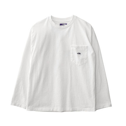 THE NORTH FACE Tシャツ・カットソー 国内発◆THE NORTH FACE PURPLE LABEL 7OZ L/S POCKET 定番T(5)
