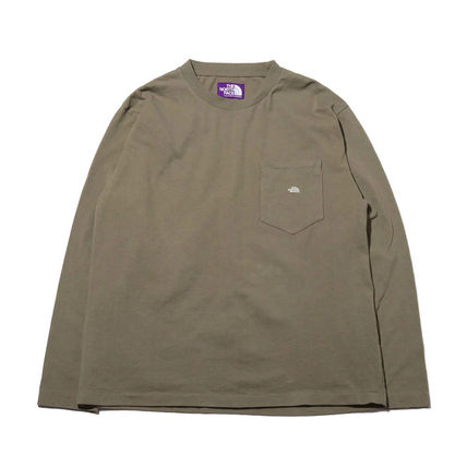 THE NORTH FACE Tシャツ・カットソー 国内発◆THE NORTH FACE PURPLE LABEL 7OZ L/S POCKET 定番T(6)