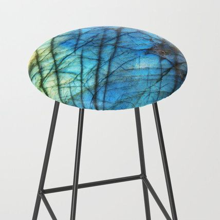 Society6 椅子・チェア 日本未入荷・送料無料 Royal Labradorite Crystal Agate Gemston
