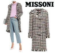 [関税・送料込] MISSONI☆Fringe-trimmed wool-blend tweed coat