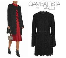 GIAMBATTISTA VALLI☆Satin-trimmed cotton guipure lace jacket