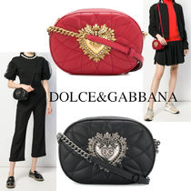 DOLCE&GABBANA DEVOTION CAMERA BAG MATELASSE NAPPA LEATHER