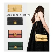 ★Charles&Keith★Stone-Embellished Mini Long Wallet★長財布