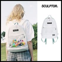 ☆SCULPTOR☆ バックパック PVC Backpack [SAGE / CLEAR]