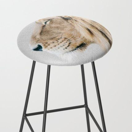 Society6 椅子・チェア 日本未入荷・送料無料 Lion Portrait - Colorful Bar Stool