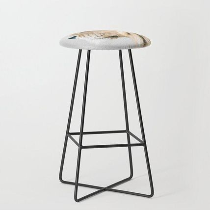 Society6 椅子・チェア 日本未入荷・送料無料 Lion Portrait - Colorful Bar Stool(2)