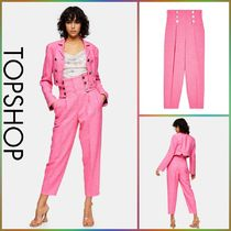 TOPSHOP【関税込み】OT PINK HIGH WAISTED テーパードパンツR293