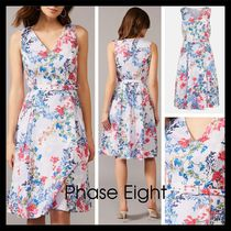 【Phase Eight】Robbie Floral Fit And Flare Dress プリーツ
