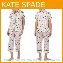 KATE SPADE NEW YORK◆ルームウェア 水玉 ドット パジャマ上下
