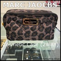 MARC JACOBS☆Quilted Nylon Double Zip Cosmetic Case☆LEOPARD
