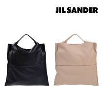 JIL SANDER☆【完売間近】 LEATHER HAND BAG / black・rose