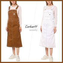 Carhartt WIP*ロゴ サロペット*Brown*White*送料込