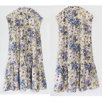 """""""& Other Stories"""" Relaxed Buttoned Midi Dress Floral"""