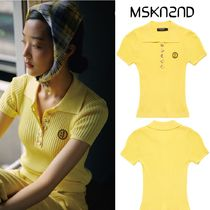 【MSKN2ND】RIBBED KNIT PIQUE SHIRT LIGHT YELLOW