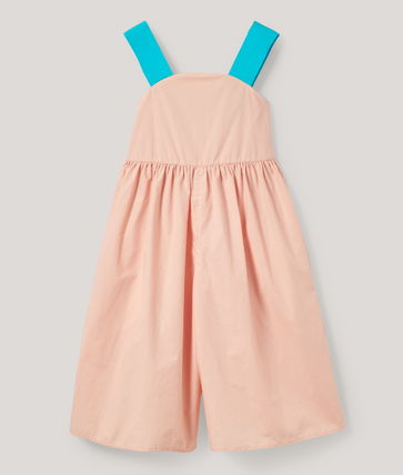 """COS KIDS"""" SLEEVELESS COTTON JUMPSUIT ORANGE (COS/キッズワンピース ..."""
