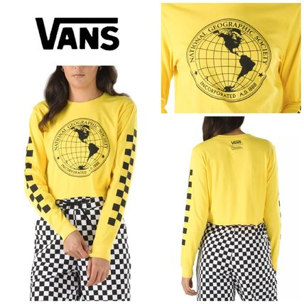 VANS Tシャツ・カットソー 【Vans】☆新作☆NATIONAL GEOGRAPHIC LONG SLEEVE CROPPED TEE