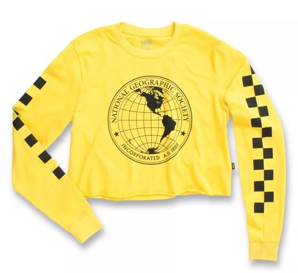 VANS Tシャツ・カットソー 【Vans】☆新作☆NATIONAL GEOGRAPHIC LONG SLEEVE CROPPED TEE(2)