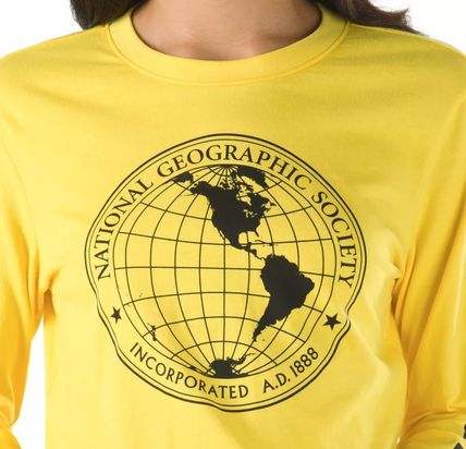 VANS Tシャツ・カットソー 【Vans】☆新作☆NATIONAL GEOGRAPHIC LONG SLEEVE CROPPED TEE(3)