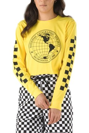 VANS Tシャツ・カットソー 【Vans】☆新作☆NATIONAL GEOGRAPHIC LONG SLEEVE CROPPED TEE(4)