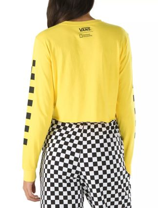 VANS Tシャツ・カットソー 【Vans】☆新作☆NATIONAL GEOGRAPHIC LONG SLEEVE CROPPED TEE(5)