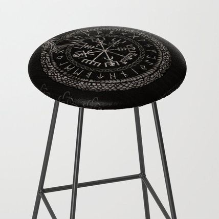 Society6 椅子・チェア 日本未入荷・送料無料 Vegvisir with Ouroboros and runes Bar S