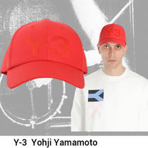 Y-3  red embroidered logo キャップ