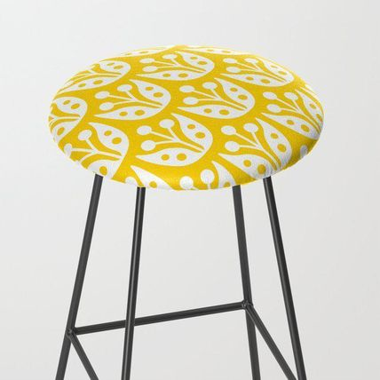 Society6 椅子・チェア 日本未入荷・送料無料 Mid Century Flower Pattern Yellow Bar S