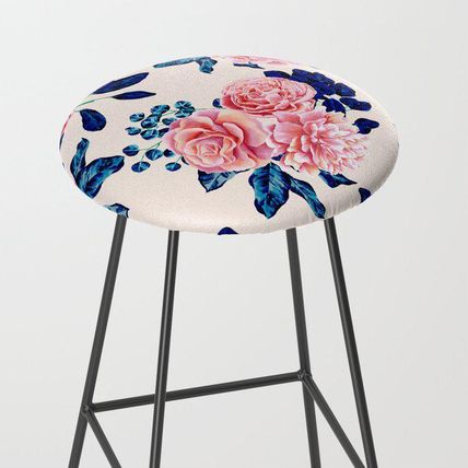Society6 椅子・チェア 日本未入荷・送料無料 Girly Pink Navy Blue Country Painted Fl