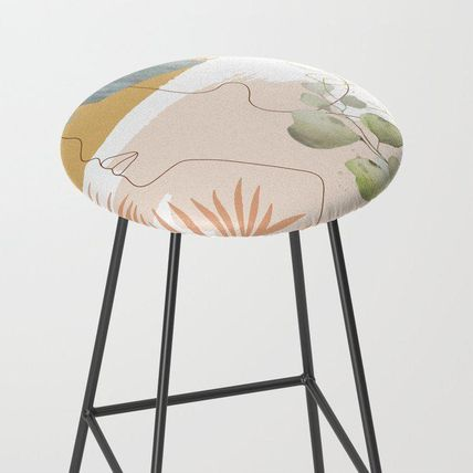 Society6 椅子・チェア 日本未入荷・送料無料 Line in Nature I Bar Stool