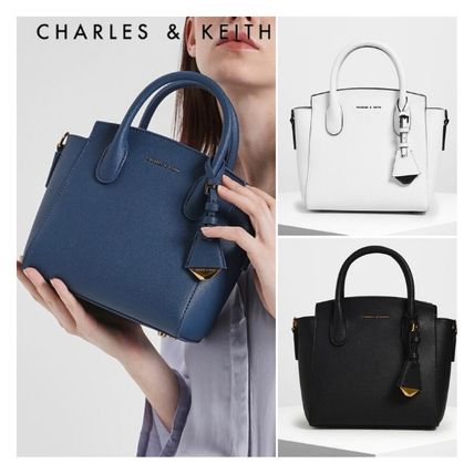 ★Charles&Keith★Classic Double Top Handle Bag★クラッシック
