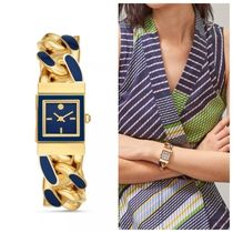 TILDA WATCH, GOLD-TONE STAINLESS STEEL/BLUE, 21 MM