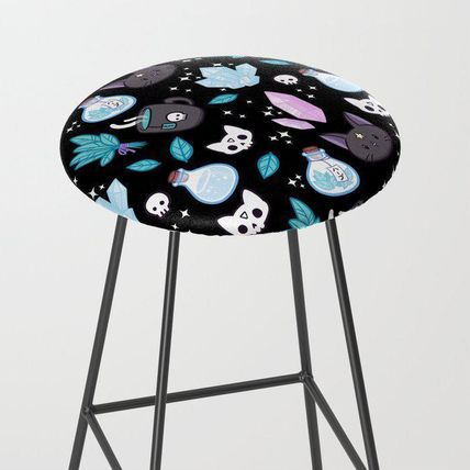 Society6 椅子・チェア 日本未入荷・送料無料 Herb Witch // Black Bar Stool