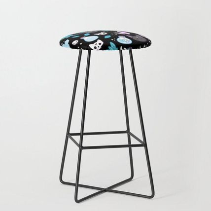Society6 椅子・チェア 日本未入荷・送料無料 Herb Witch // Black Bar Stool(2)