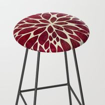 日本未入荷・送料無料 Petal Burst - Maroon Bar Stool