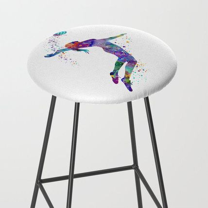 Society6 椅子・チェア 日本未入荷・送料無料 Volleyball Girl Watercolor Art Print Sp