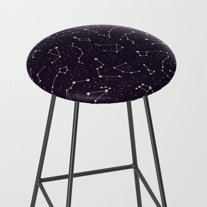 Society6 椅子・チェア 日本未入荷・送料無料 constellations pattern Bar Stool
