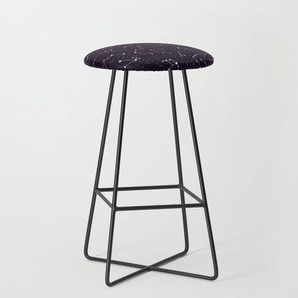 Society6 椅子・チェア 日本未入荷・送料無料 constellations pattern Bar Stool(2)
