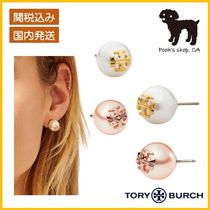 【Tory Burch】CRYSTAL-PEARL STUD EARRING ピアス◆国内発送◆