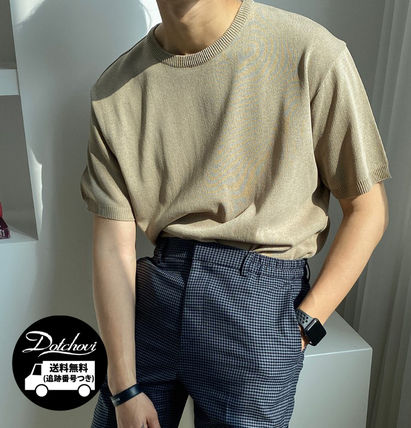 ASCLO Tシャツ・カットソー ASCLO Deep summer linen Round knit(10color) YI379