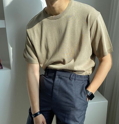 ASCLO Tシャツ・カットソー ASCLO Deep summer linen Round knit(10color) YI379(4)