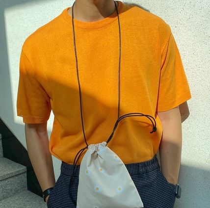 ASCLO Tシャツ・カットソー ASCLO Deep summer linen Round knit(10color) YI379(5)
