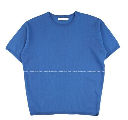 ASCLO Tシャツ・カットソー ASCLO Deep summer linen Round knit(10color) YI379(9)