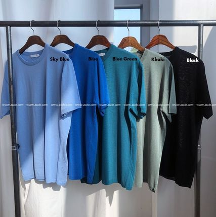 ASCLO Tシャツ・カットソー ASCLO Deep summer linen Round knit(10color) YI379(11)