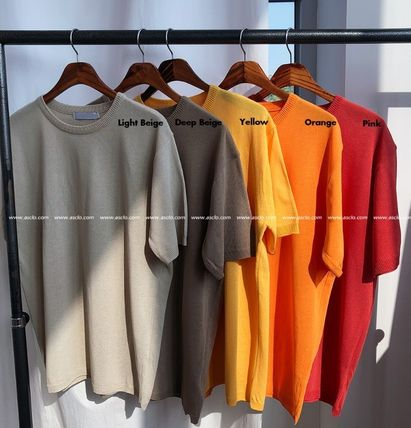 ASCLO Tシャツ・カットソー ASCLO Deep summer linen Round knit(10color) YI379(12)