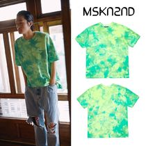 【MSKN2ND】TIE DYE MINI LOGO OVERSIZED T-SHIRT NEON GREEN