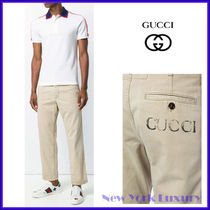 Gucci★素敵!Light Brown Washed Cotton Pant w/Gucci Print
