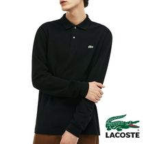 LACOSTE BASIC LONG SLEEVED PIQUE MENS ポロシャツ