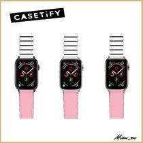☆ Casetify Apple Watch バンド  Pink and stripes ♪