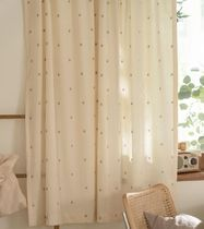 【DECO VIEW】Natural daisy embroidery small window curtain
